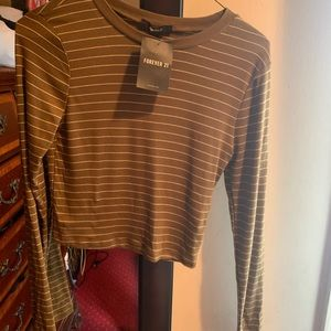 NWT Striped crop top